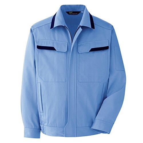 ミドリ安全 ベルデクセル 綿100% 長袖 ブルゾン VE392 ライトブルー 5L