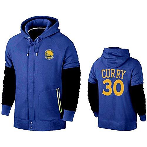 Stephen Curry No.30 Golden State Warriors Maschile di Pallacanestro con Cappuccio Pullover Felpa Lunga Allentata Formazione Manica Confortevole Top Casual (Color : B, Size : 3XL)