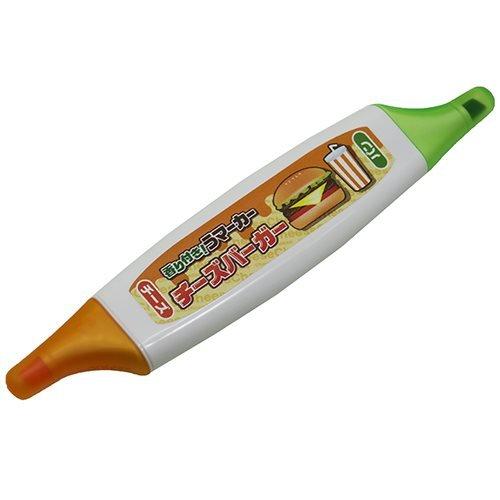チーズバーガー[カラーペン]香り付き うマーカー/チーズとパンの香り