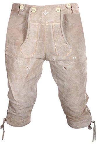 Gesteiner Leather Herren Trachten Lederhose Kniehose Wildleder Dunkelbraun Gr. 46,48,50,52,54,56,58,60 NEU ((W37/Herstellergröße 50), Schlammbraun)
