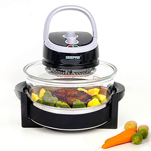 Geepas 1400W Turbo Halogen Oven, 17L Capacity   60min Timer with Adjustable Temperature Control & 7...