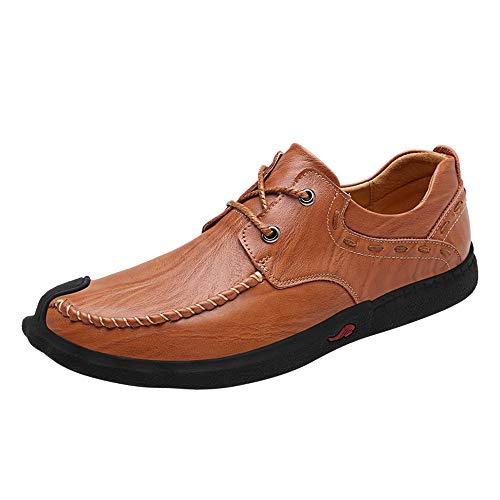 Formele, platte, ademende mannen Business Loafer Stijlvolle Comfortabele Lederen Lace Up Flat Slip op ronde teen gevoerde Oxford Oxford schoenen voor mannen
