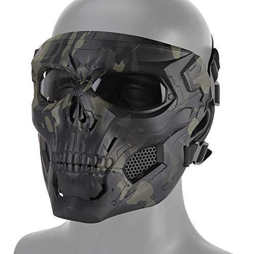 Huenco Máscaras de Calavera de Halloween Airsoft Máscaras Protectoras de Cara Completa CS War Game BB Gun Skeleton Masks Party Cosplay Mask Movie Props