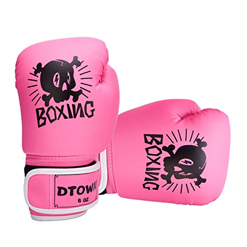 Dtown Kids Boxing Gloves 4oz Youth Boxing Gloves for Age 3 to 7 Years, Boys and Girls Training Boxing Gloves for Punching Bag, Kickboxing, Muay Thai, MMA