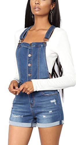 Peto Jeans Mujer Verano Peto Elegantes Overall Vintage Denim Fashion Ropa Festiva...