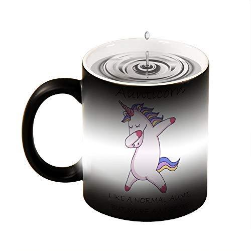 Taza de mágica,Unicornio Tazas de Cerámica Cambio de color en Caso de Agua Caliente para Té...