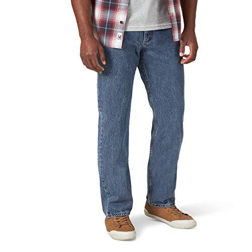 Wrangler Authentics Men's Classic 5-Pocket Regular Fit Cotton Jean, Vintage Blue Grey, 38W x 30L