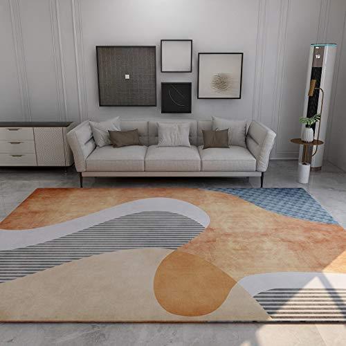 haiba Alfombra de estudio para sala de estar, alfombra mullida para dormitorio, comedor y sala de estar, fácil de limpiar, base de fieltro suave, 120 x 160 cm