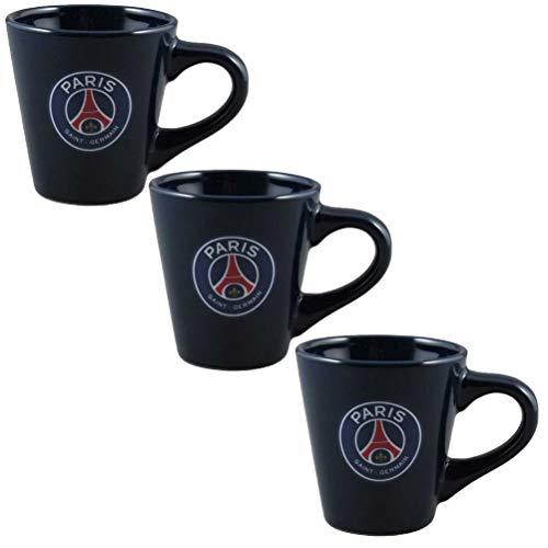 PSG 173PSG504EXP Set de 3 Tasses à café Mixte Enfant, Noir