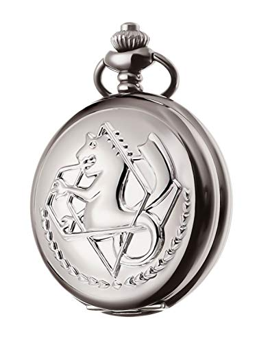Fullmetal Alchemist Pocket Watch with Chain Box for Cosplay Accessories Anime Merch