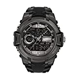 Thomm Reloj Deportivo Digital Relojes para Hombres Cara Grande Militar Táctico Táctico Doble Pantalla Moda Impermeable Multifunción Relojes de Pulsera para Hombres (Color : F)