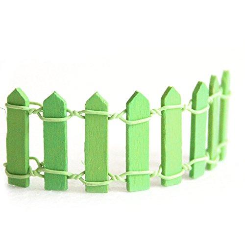 Gosear® 10 Pcs Mini bois pliable décoratif fleur Pot clôture panneaux Maison Jardin décoration ornement vert