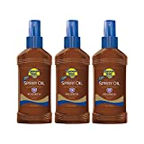 Banana Boat Sunscreen Protective Tanning Oil Broad Spectrum Sun Care Sunscreen Spray - SPF 15, 8 Ounce (Pack of 3) (Packaging may Vary)