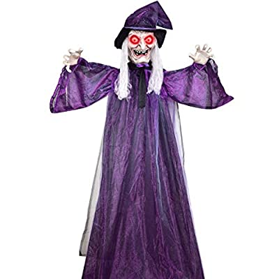 Creepy Life Size Hanging Witch Animated Halloween Props