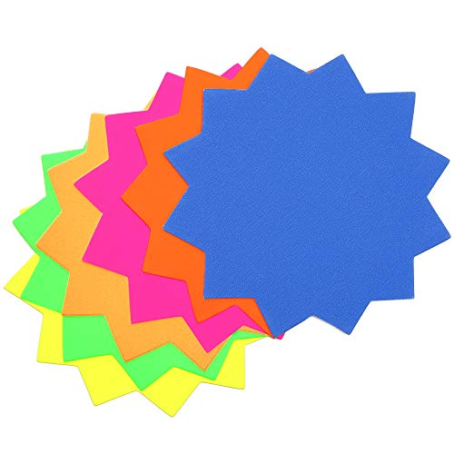 Blank Starburst Signs (4 x 4 in, Multicolored, 120 Pack)