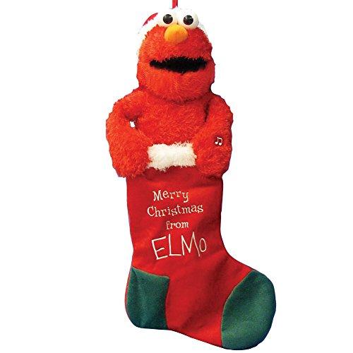 Kurt Adler Battery-Operated Animated Musical Elmo Stocking