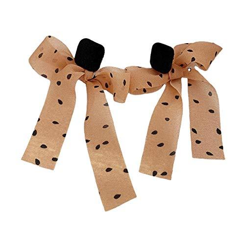 #N/A/a Bowknot Exquisito Colgante de Pendientes de Cinta para Mujer Ropa de Boda Dorada