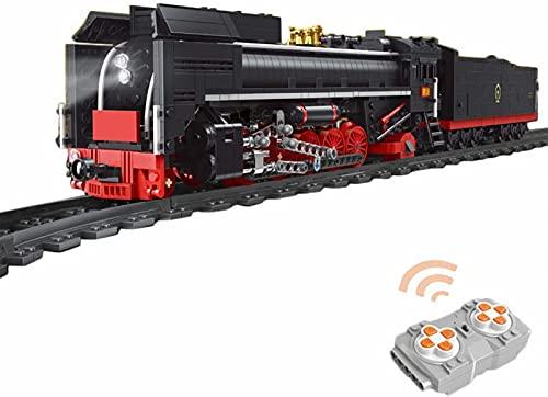 Tren de Bloques de Construcción Técnica con Motor, Tren Histórico Expreso con Motor Juguetes de Construcción-1552 Piezas, Compatible con Lego