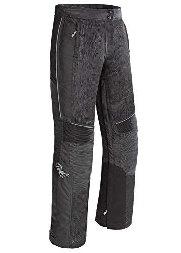 Joe Rocket 1524-2002 Cleo Elite Damen Motorradhose aus Textil (Schwarz, Größe S)