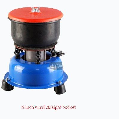 Hanchen Jade Poliermaschine Vibrierender Poliergerät für Schleuderstein Waschmaschine für gelben Wachsstein Achat Wachs Gans Weichstein - 6-inch - Vinyl Straight Bucket
