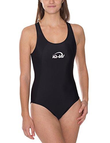 iQ-UV Damen UV 300 Swim Suit Badeanzug, schwarz, M (40)