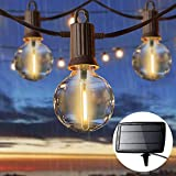 ZOTOYI Solar String Lights Outdoor, 50FT Waterproof G40 Globe Lights String with...