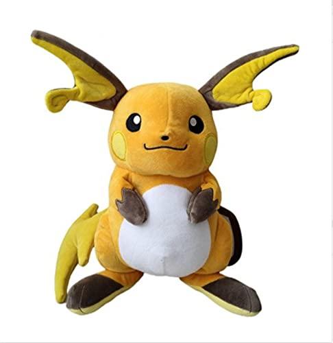 QIER Juegos De Anime Pokemon Pikachu Raichu Muñeco De Peluche De 30 Cm Juguetes De Peluche De Dibujos Animados para Niños Juguetes Regalos De Cumpleaños 30 Cm