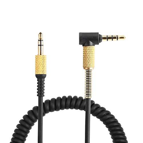 Yizhet Audio Câble de Remplacement Compatible avec Marshall Monitor/Major I/ Major II /Major III avec Microphone et Contrôle du Volume 3,5mm Mâle à Mâle Câble de Casque (1,2m)