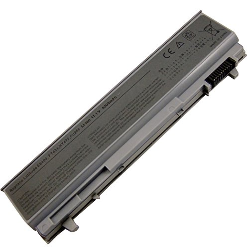 Bay Valley PartsNew Laptop Battery for DELL Latitude E6410 E6400 E6500 E6510 PT434 PT435 PT436 PT437 Li-ion 6 Cell 11.1v 5200mAh/58WH