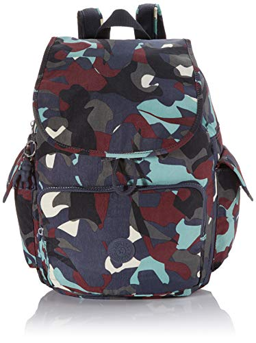Kipling City Pack, Mochilas para Mujer, Multicolor (Camo Large), 32x37x18.5 cm