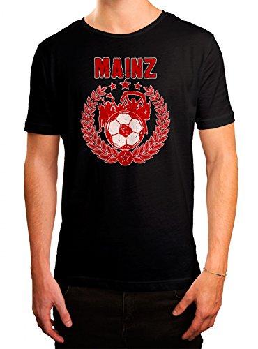 Mainz #3 Premium T-Shirt | Fussball | Fan-Trikot | #jeden-verdammten-Samstag | Herren | Shirt, Farbe:Schwarz (Deep Black L190);Größe:XL