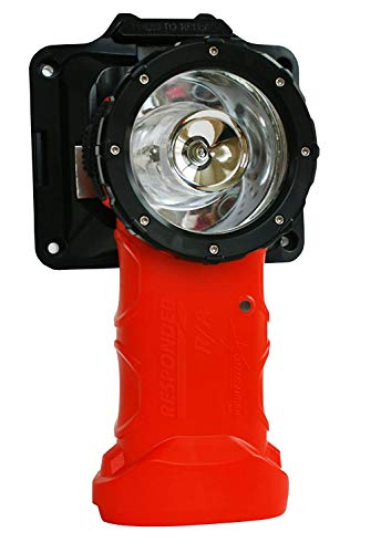 Bright Star Responder Right Angle Flashlight   Rechargeable with Direct Wire   Intrinsically Safe UL Certified, 205 Lumens LED for Fire Rescue, Work, Industrial Use, Emergencies, & More, Orange