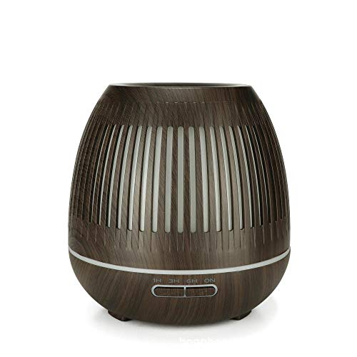 400ml Aromatherapy Diffusers Electric with 7 Color Nightlight,Wood Grain Electric Aromatherapy Diffuser Plug inAdjustable Mist Mode, BPA-Free, Waterless Auto-off, Kids Humidifier for Home,Bedroom,Car
