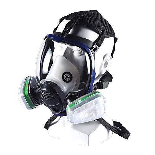 Maschera Antigas A Filtro Autoadescante Respiratore Pieno Facciale Protezione Respiratore di Sicurezza Professionale per Vernice Polvere Prodotti Chimici Militare