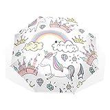 ISAOA Paraguas de viaje automático, paraguas plegable mági