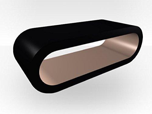 Zespoke Grande table basse ronde noire - Intérieur couleur cappuccino brillant