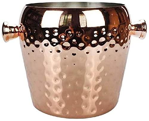 wangYUEQ Benna di Ghiaccio in Acciaio Inossidabile Banetto di Ghiaccio Barrel Champagne Birra Birra Birrelli Whisky Whisky Wine Cooler Bar Contenitori (Dimensioni: M) (Size : S)