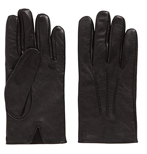 Hugo Boss Herren Lederhandschuhe mit Futter, Hainz3, Black, size 8