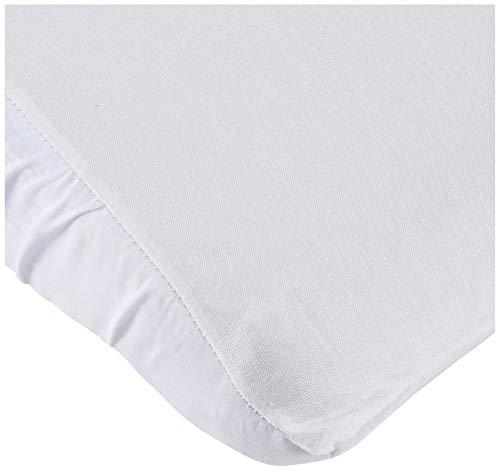 Pirulos Sábana Bajera Protectora Impermeable para Mini Cuna de Bebé de 50x80 cm/Sábana Bajera Ajustable + Protector Impermeable, Color Blanco