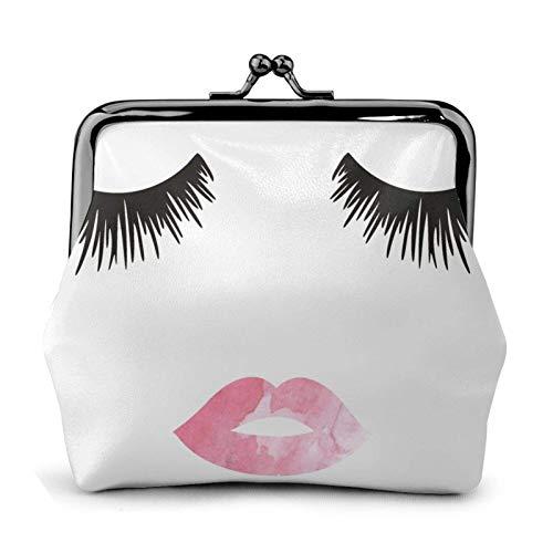 Eyeh Lip White Monedero Monedero Monedero Monedero – Lo pequeño bolso cambiador de piel para mujer