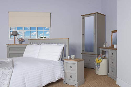 Corona Grey 3'0 Slatted Bed
