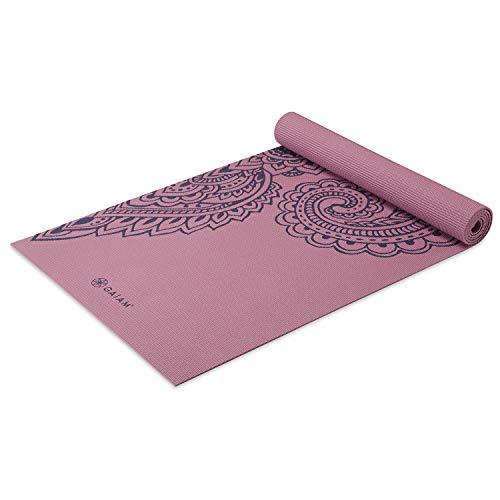 Gaiam Yogamatte Premium Print rutschfeste Übungs- & Fitnessmatte für alle Arten von Yoga, Pilates & Boden-Workouts, Paisley Tropical, 5 mm (05-64039)