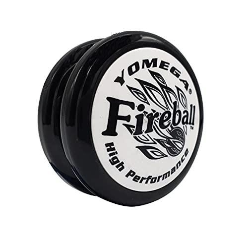 Yomega Fireball - プロのトランスアクセルヨーヨー、プロのようにパフォーマンスをしてみたい子どもや初心者に です。 予備用ストリングス×2本付き (ブラック)