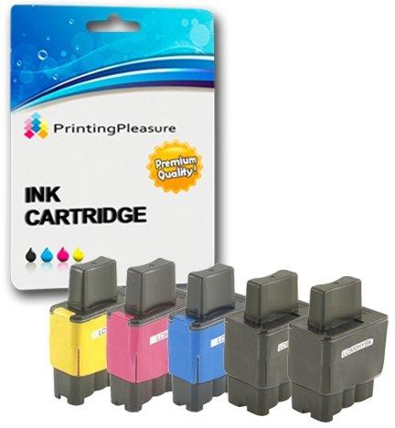 5 Tintenpatronen kompatibel zu LC900 LC950 für Brother MFC-210C 215C 3340CN 410CN 425CN 5440CN 5840CN DCP-110C 115C 117C 310CN 315CN 340CW Fax-1840C 1940CN - Schwarz/Cyan/Magenta/Gelb, hohe Kapazität