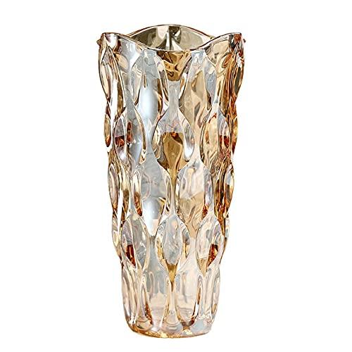 Crystal Glass Colorful Vase,Flower Vase Decor for Home Dining Table Living Room,Office Wedding...