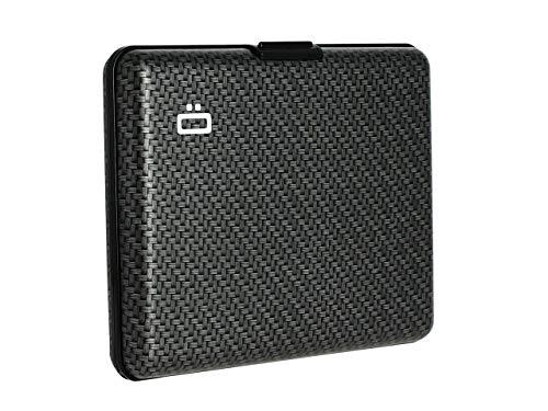 ÖGON Smart Wallets - Portafogli Big Stockholm - Protezione RFID: Protegge Le tue Carte Contro Le Frodi - Alluminio Anodizzato (Carbon)