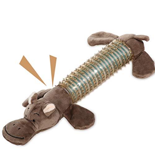 VECELA Dog Plush Toy, Squeaky Dog Toys Indestructible Rubber Body Dog Chew...