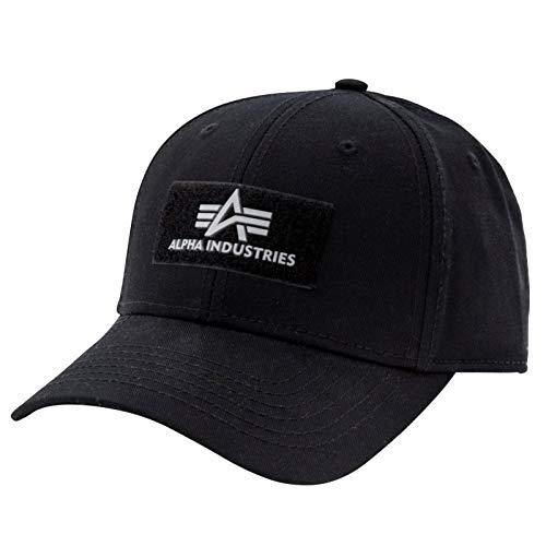Alpha Industries VLC II Cap Black Streetwear 6-teiliges Basecap Baumwolle verstellbar, Farbe:Black