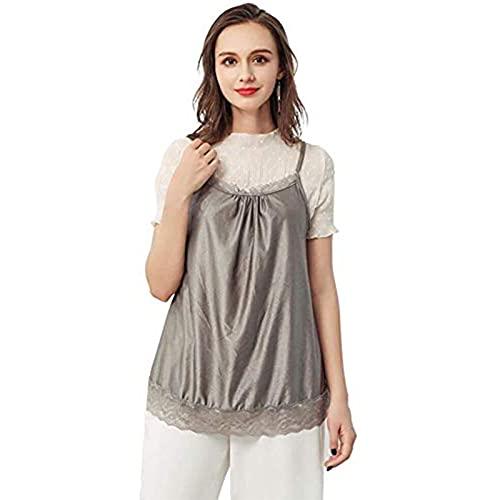 Wtky Ropa de protección radiológica, ropa de maternidad de fibra de plata 100% para mujer Ropa de protección (Color : Silver, Tamaño : L)