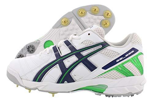 ASICS Gel 335 Cricket Boots Men's Shoe Size 12, Color: White/Green